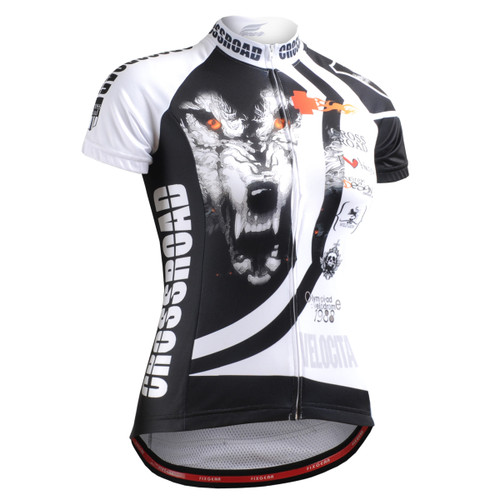 FIXGEAR CS-W2202 Women's Short Sleeve Cycling Jersey front view