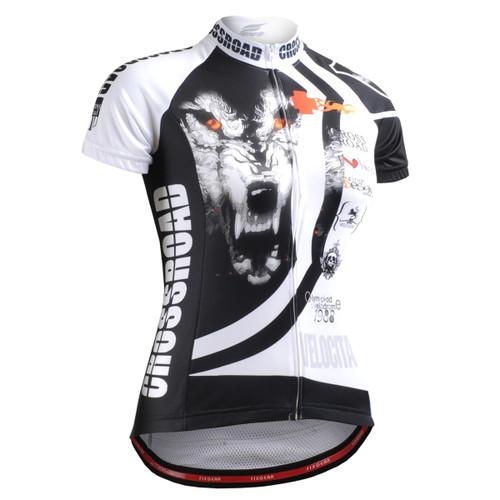 FIXGEAR CS-W2202 Women's Short Sleeve Cycling Jersey front view