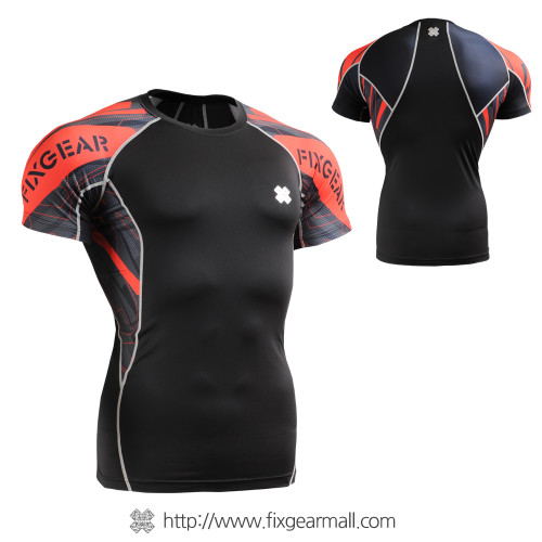 FIXGEAR C2S-B68 Compression Shirts Base Layer Short Sleeve