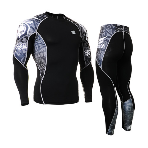 FIXGEAR C2L/P2L-B43 Compression Shirts/Tights Set
