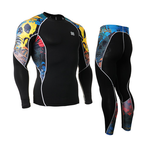 FIXGEAR C2L/P2L-B46 Compression Shirts/Tights Set