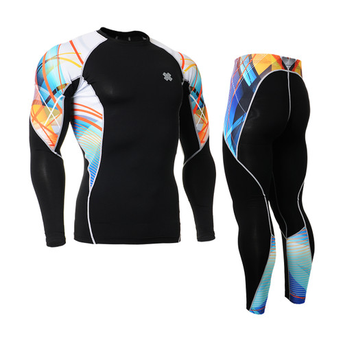 FIXGEAR C2L/P2L-B49 Compression Shirts/Tights Set