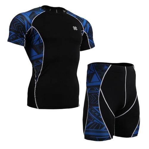FIXGEAR C2S/P2S-B1 Compression Short Sleeve Shirts/Shorts Set