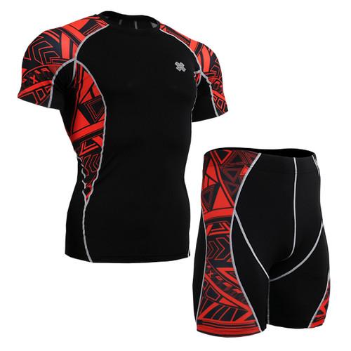 FIXGEAR C2S/P2S-B2 Compression Short Sleeve Shirts/Shorts Set