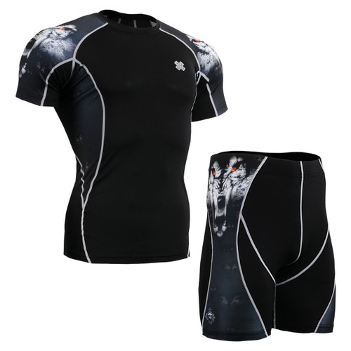 FIXGEAR C2S/P2S-B18 Compression Short Sleeve Shirts/Shorts Set