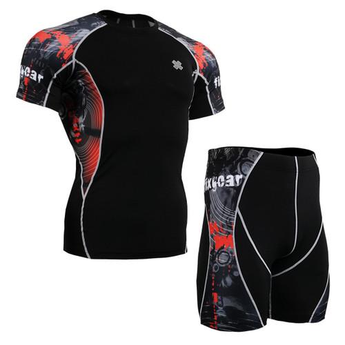 FIXGEAR C2S/P2S-B30 Compression Short Sleeve Shirts/Shorts Set