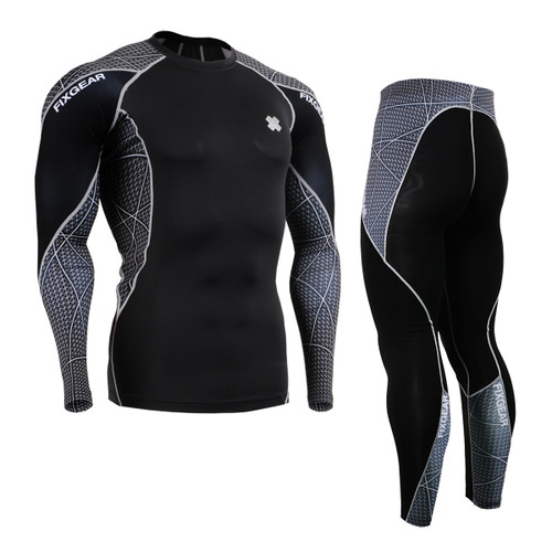 FIXGEAR C3L/P2L-B70 Compression Long Sleeve Shirts/Tights Set