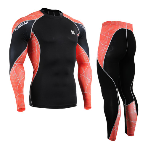 FIXGEAR C3L/P2L-B70R Compression Short Sleeve Shirts/Shorts Set