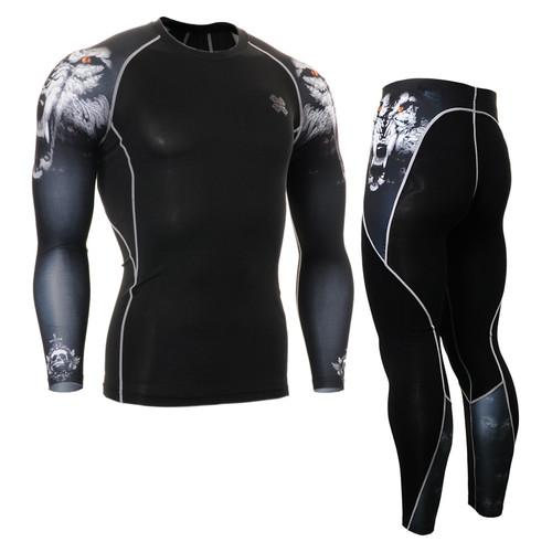 FIXGEAR CPD/P2L-B18 Compression Short Sleeve Shirts/Pants Set
