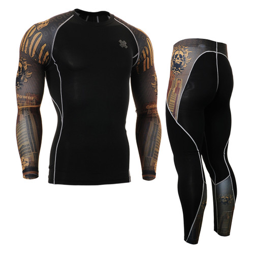 FIXGEAR CPD/P2L-B27 Compression Short Sleeve Shirts/Pants Set
