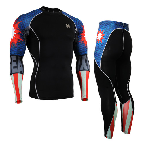 FIXGEAR CPD/P2L-B37 Compression Short Sleeve Shirts/Pants Set