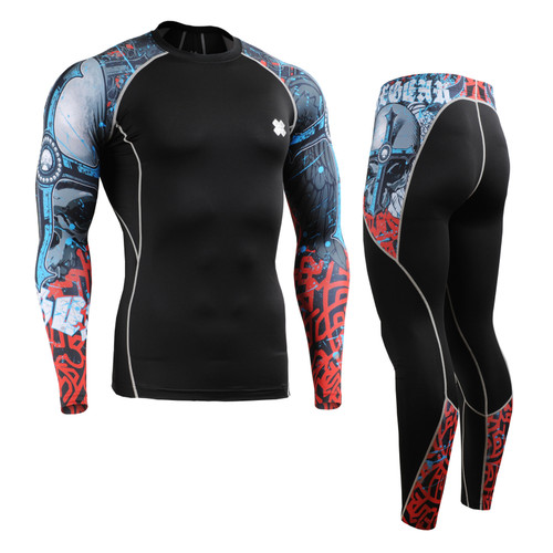 FIXGEAR CPD/P2L-B73 Compression Long Sleeve Shirts/Pants Set