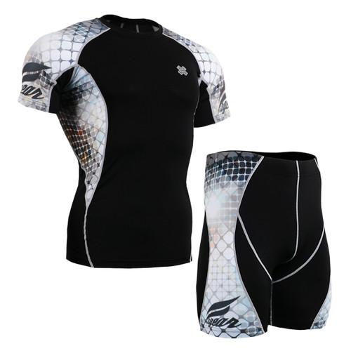 FIXGEAR C2S/P2S-B38 Compression Short Sleeve Shirts/Shorts Set
