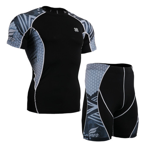 FIXGEAR C2S/P2S-B41 Compression Short Sleeve Shirts/Shorts Set