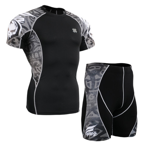 FIXGEAR C2S/P2S-B43 Compression Short Sleeve Shirts/Shorts Set