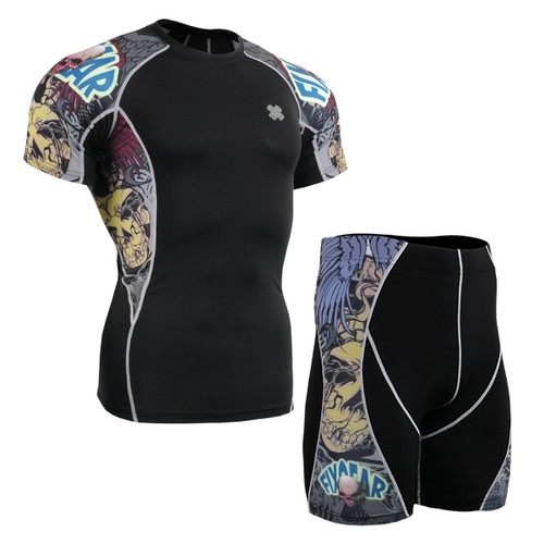 FIXGEAR C2S/P2S-B44 Compression Short Sleeve Shirts/Shorts Set
