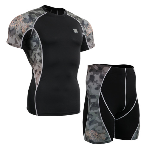 FIXGEAR C2S/P2S-B45 Compression Short Sleeve Shirts/Shorts Set