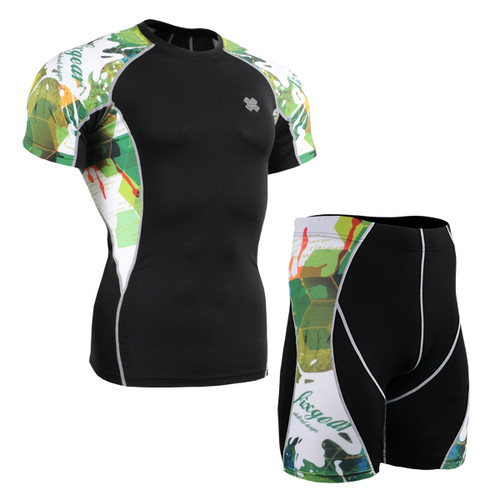 FIXGEAR C2S/P2S-B47 Compression Short Sleeve Shirts/Shorts Set