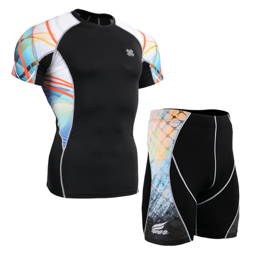 FIXGEAR C2S/P2S-B49 Compression Short Sleeve Shirts/Shorts Set
