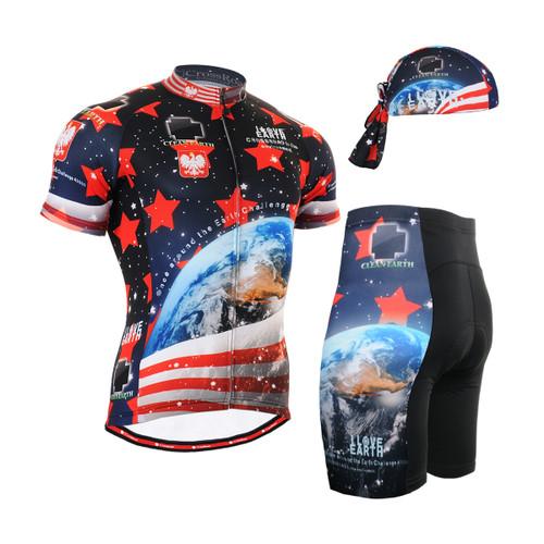 FIXGEAR Men's Cycling Jerseys & Padded Shorts CS-1002 SET