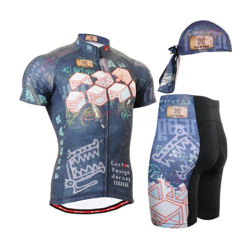 FIXGEAR Men's Cycling Jerseys & Padded Shorts CS-1502 SET