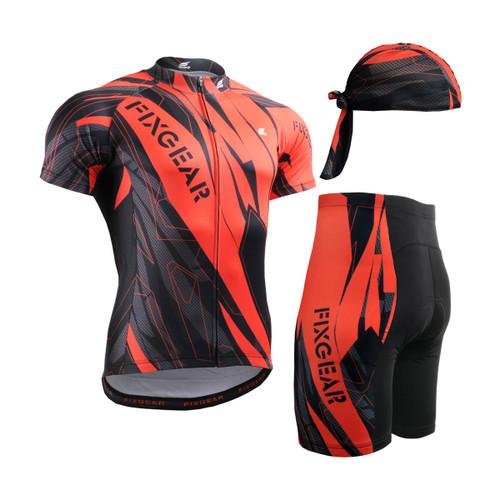 FIXGEAR Men's Cycling Jerseys & Padded Shorts CS-6802 SET