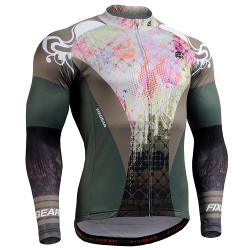 FIXGEAR CS-4201 Men's Cycling Jersey long sleeve
