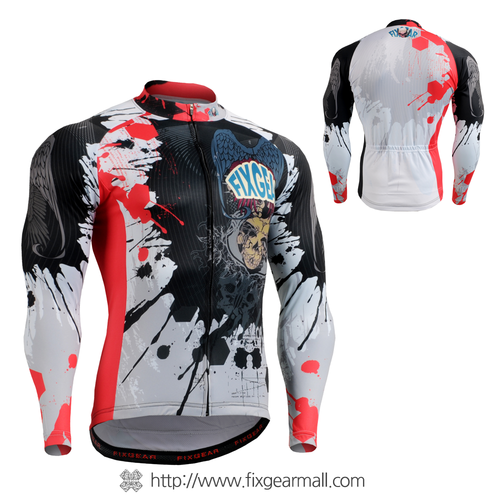 FIXGEAR CS-4401 Men's Cycling Jersey long sleeve