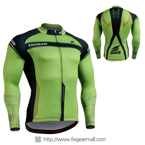 FIXGEAR CS-7501 Men's Cycling Jersey long sleeve