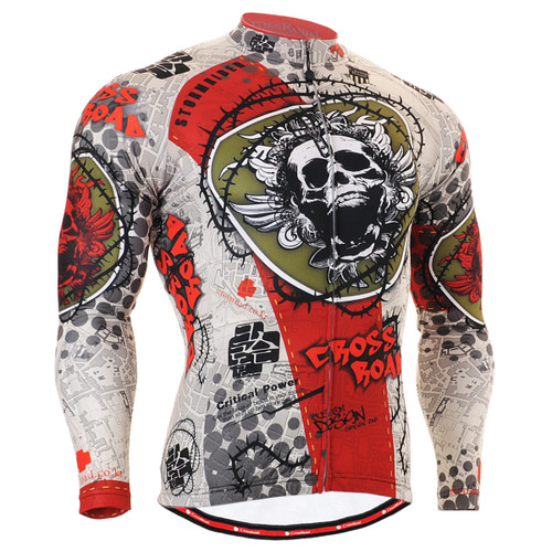 FIXGEAR CS-501 Men's Cycling Jersey long sleeve front view