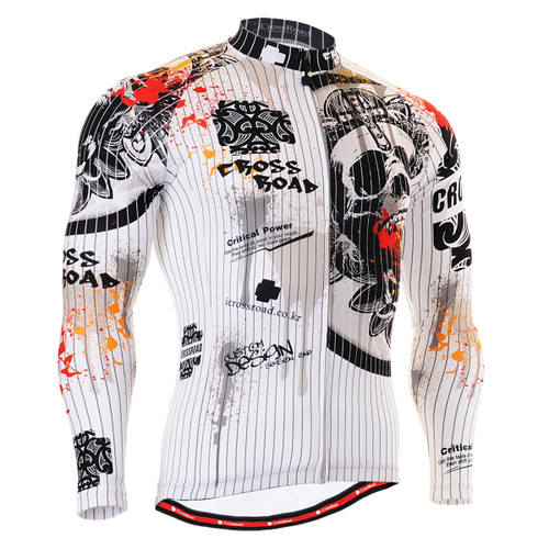 FIXGEAR CS-901 Men's Cycling Jersey long sleeve front view