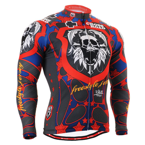 FIXGEAR CS-1101 Men's Cycling Jersey long sleeve front view