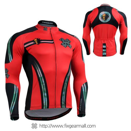 FIXGEAR CS-7601 Men's Long Sleeve Cycling Jersey
