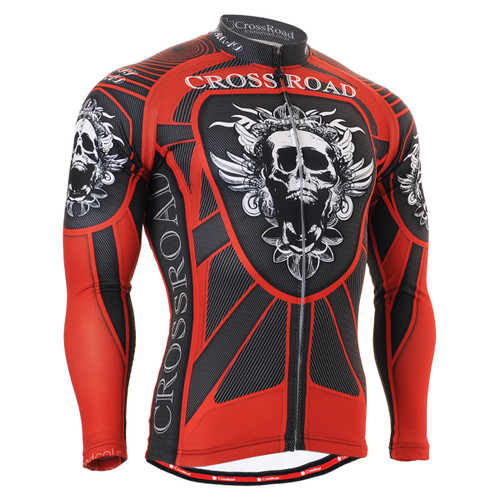 FIXGEAR CS-1301 Men's Cycling Jersey long sleeve front view