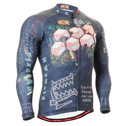 FIXGEAR CS-1501 Men's Cycling Jersey long sleeve front view