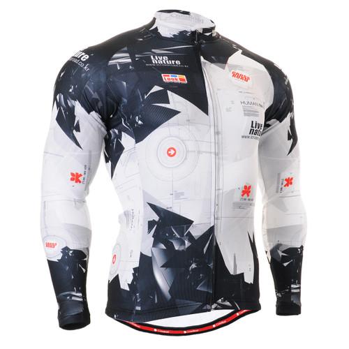 FIXGEAR CS-1701 Men's Cycling Jersey long sleeve front view
