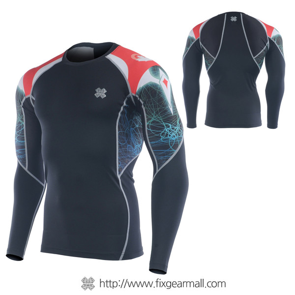 FIXGEAR C2L-B35 Compression Base Layer Long Sleeve Shirts