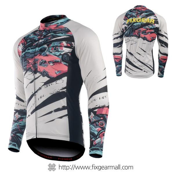 FIXGEAR CS-C101 Men's Long Sleeve Cycling Jersey