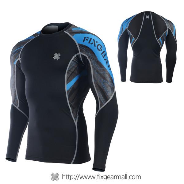 FIXGEAR C2L-B68B Compression Base Layer Long Sleeve Shirts