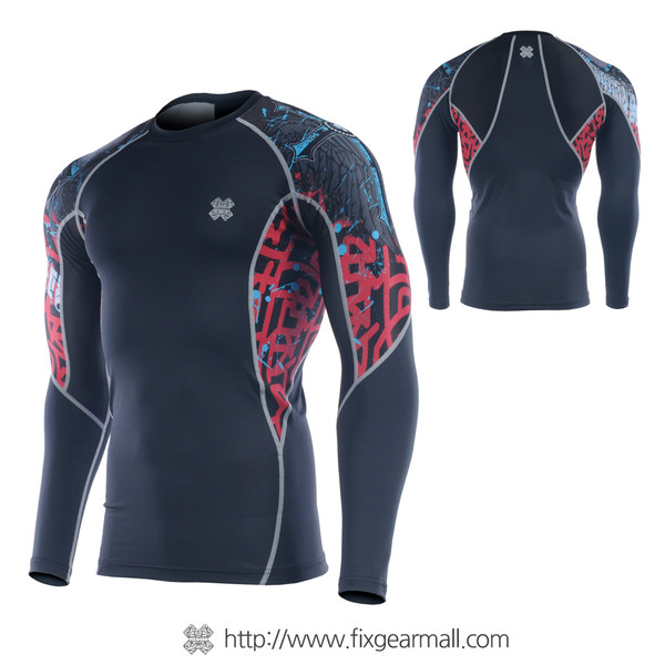 FIXGEAR C2L-B73 Compression Base Layer Long Sleeve Shirts