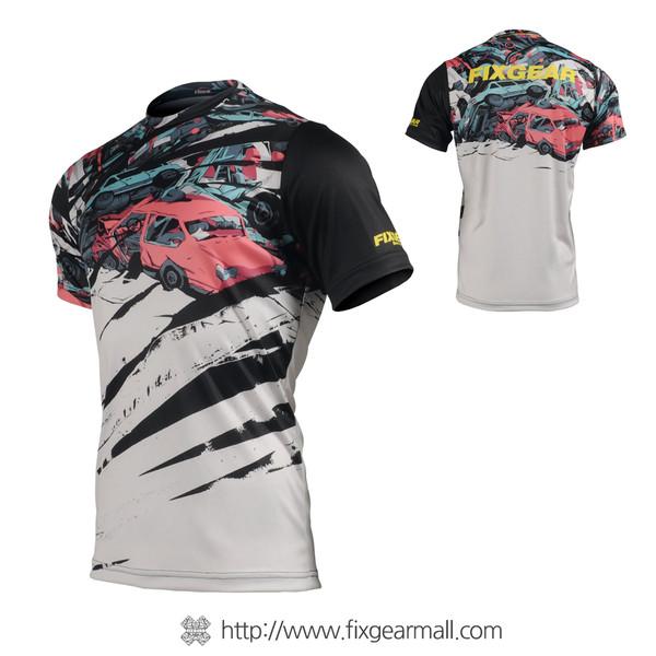 FIXGEAR RM-C1 Men's Casual short sleeve Crew-Neck T-shirt