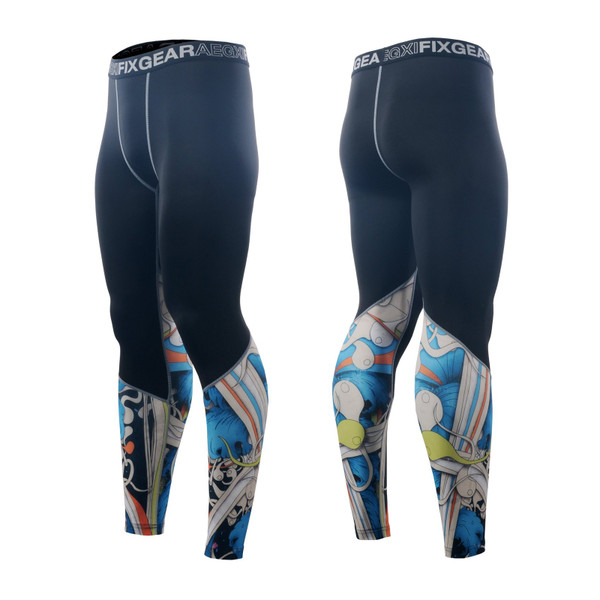 FIXGEAR FPL-19B Compression Base Layer Tights with Wide Waistband