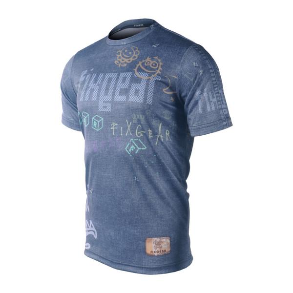 FIXGEAR RM-15 Men's Casual short sleeve Crew-Neck T-shirt