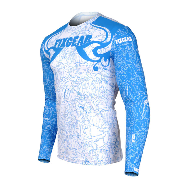 FIXGEAR RM-S18C1 Men's Casual Long sleeve Crew-Neck T-shirt