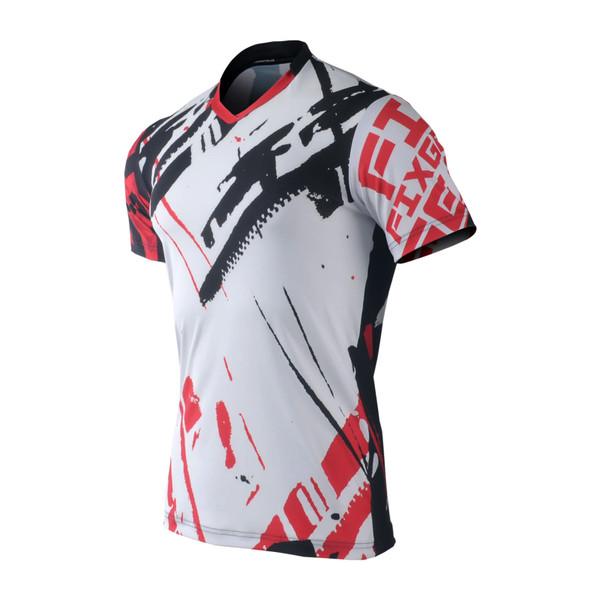 FIXGEAR TS-G8 Men's Casual Short sleeve V-Neck T-shirt