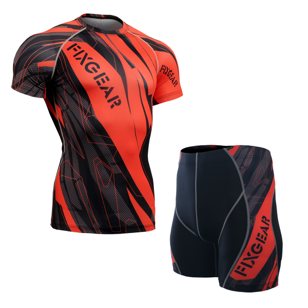 FIXGEAR CFS/P2S-B68 Compression Base Layer Short Sleeve Shirt/drawers Set