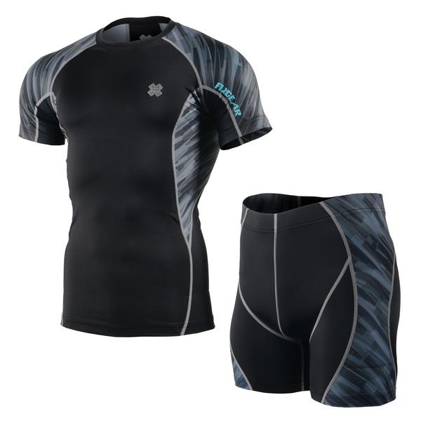 FIXGEAR C2S/P2S-B67 Compression Short Sleeve Shirt/Shorts Set