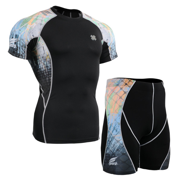 FIXGEAR C2S/P2S-B42 Compression Short Sleeve Shirts/Shorts Set