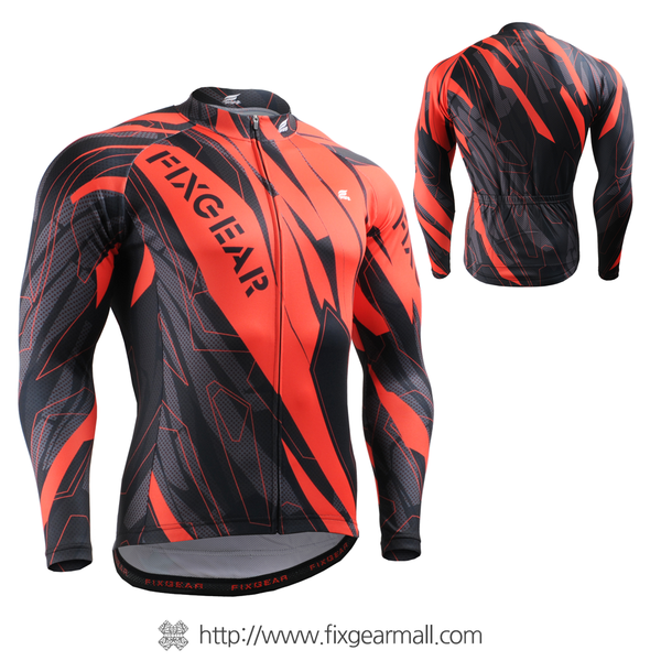FIXGEAR CS-6801 Men's Cycling Jersey long sleeve