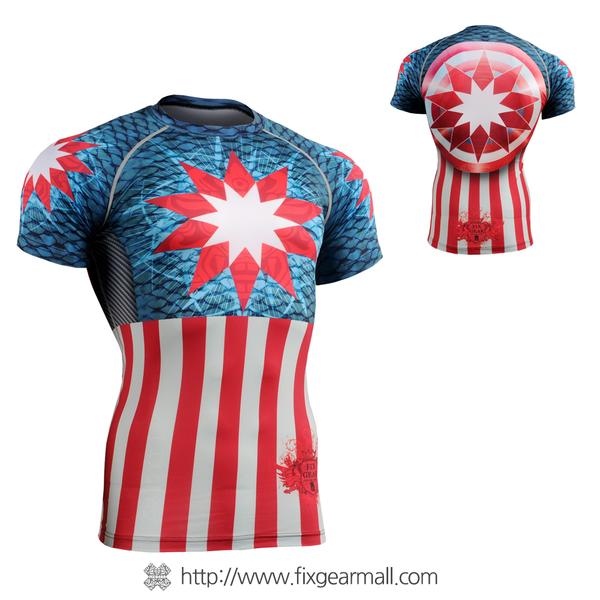 FIXGEAR CFS-37 Compression Base Layer Short Sleeve Shirts